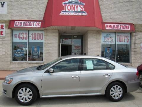 2013 Volkswagen Passat for sale at Tony's Auto World in Cleveland OH