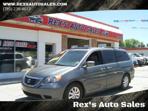 2008 Honda Odyssey for sale at Rex's Auto Sales in Junction City KS