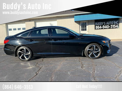 2018 Honda Accord for sale at Buddy's Auto Inc in Pendleton, SC