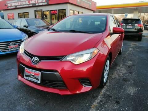 2015 Toyota Corolla for sale at International Motors in Laurel MD