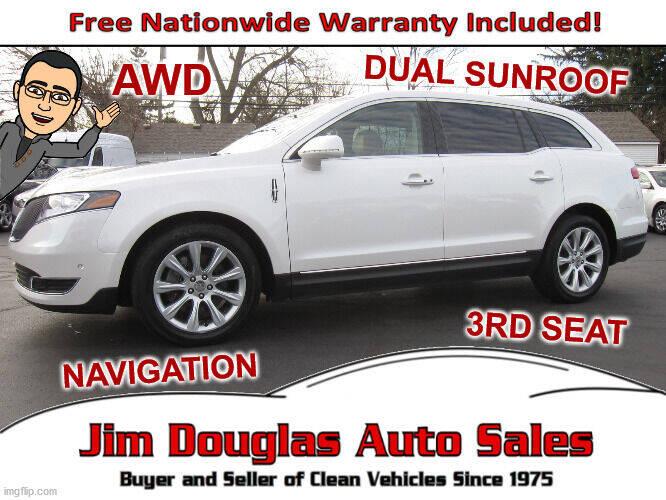 2015 Lincoln MKT for sale at Jim Douglas Auto Sales in Pontiac MI