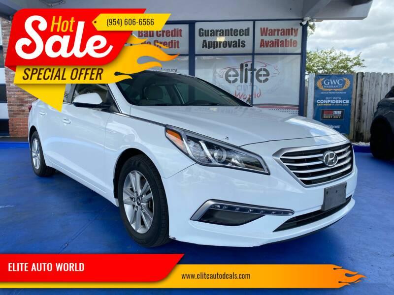 2015 Hyundai Sonata for sale at ELITE AUTO WORLD in Fort Lauderdale FL