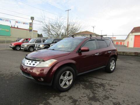 2005 Nissan Murano for sale at ARISTA CAR COMPANY LLC in Portland OR