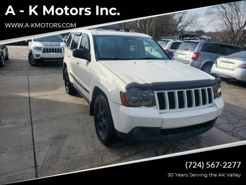 2010 Jeep Grand Cherokee for sale at A - K Motors Inc. in Vandergrift PA