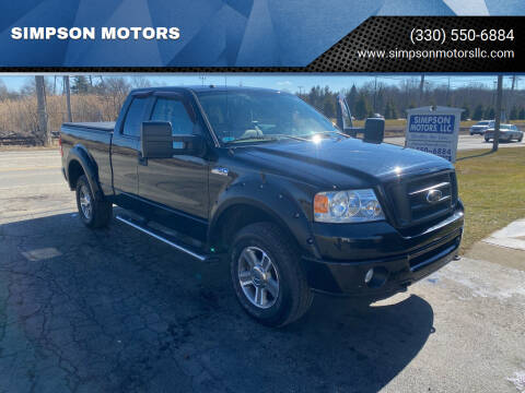 2008 Ford F-150 for sale at SIMPSON MOTORS in Youngstown OH