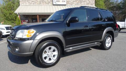 2003 Toyota Sequoia for sale at Driven Pre-Owned in Lenoir NC