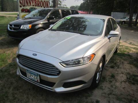 2014 Ford Fusion for sale at SUNNYBROOK USED CARS in Menahga MN