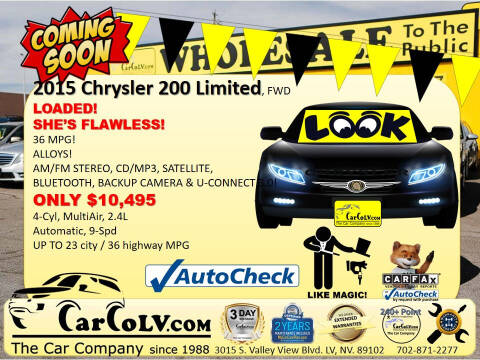 2015 Chrysler 200 for sale at The Car Company in Las Vegas NV