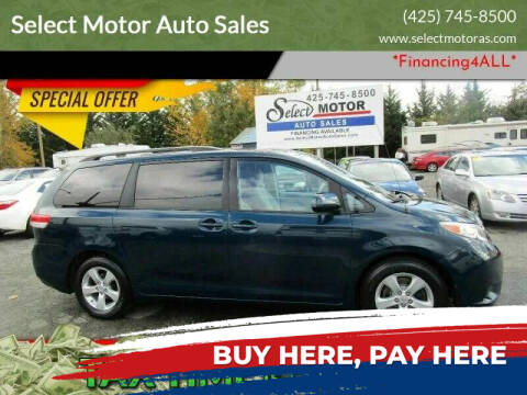 2012 Toyota Sienna for sale at Select Motor Auto Sales in Lynnwood WA