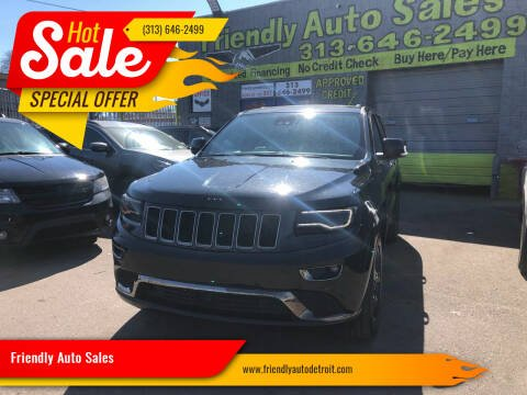2016 Jeep Grand Cherokee for sale at Friendly Auto Sales in Detroit MI