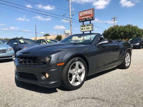 2013 Chevrolet Camaro for sale at Autohaus of Greensboro in Greensboro NC