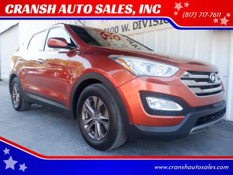 2013 Hyundai Santa Fe Sport for sale at CRANSH AUTO SALES, INC in Arlington TX