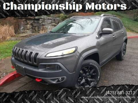 2015 Jeep Cherokee for sale at Mudarri Motorsports in Kirkland WA
