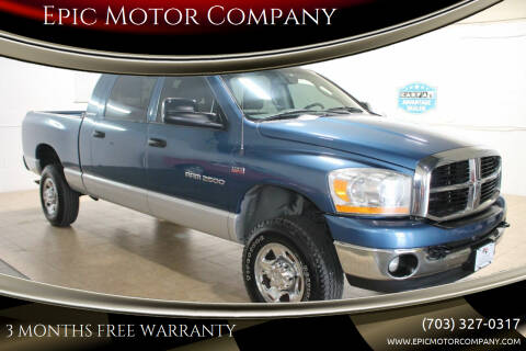 2006 Dodge Ram Pickup 2500 for sale at Epic Motor Company in Chantilly VA