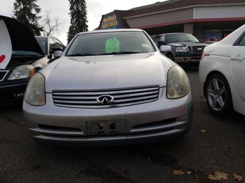 2003 Infiniti G35 for sale at 2 Way Auto Sales in Spokane Valley WA