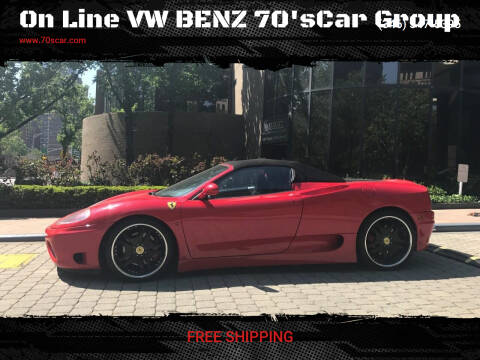 2001 Ferrari 360 Spider for sale at On Line VW BENZ 70'sCar Group in Warehouse CA