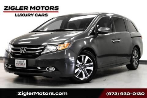 2014 Honda Odyssey for sale at Zigler Motors in Addison TX