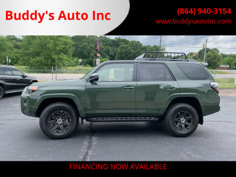 2021 Toyota 4Runner for sale at Buddy's Auto Inc in Pendleton, SC