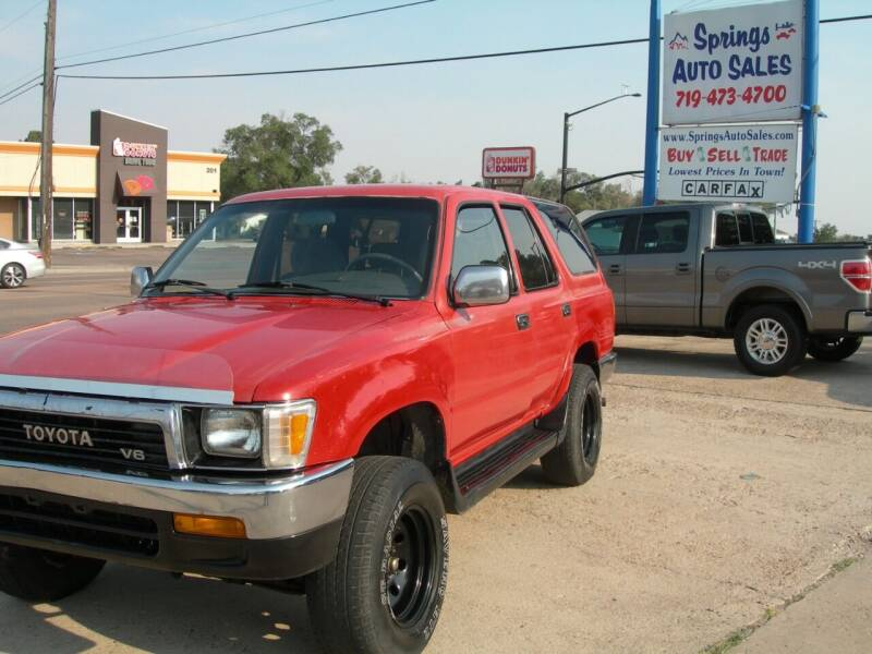 1990 Toyota 4Runner for sale at Springs Auto Sales in Colorado Springs CO