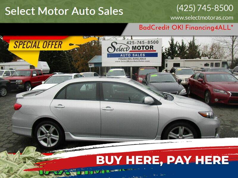 2013 Toyota Corolla for sale at Select Motor Auto Sales in Lynnwood WA
