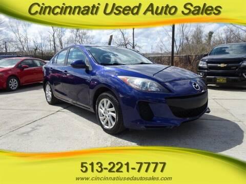 2012 Mazda MAZDA3 for sale at Cincinnati Used Auto Sales in Cincinnati OH