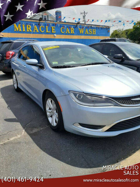 2015 Chrysler 200 for sale at MIRACLE AUTO SALES in Cranston RI