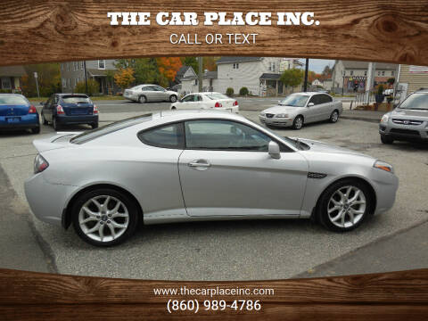 2008 Hyundai Tiburon for sale at THE CAR PLACE INC. in Somersville CT
