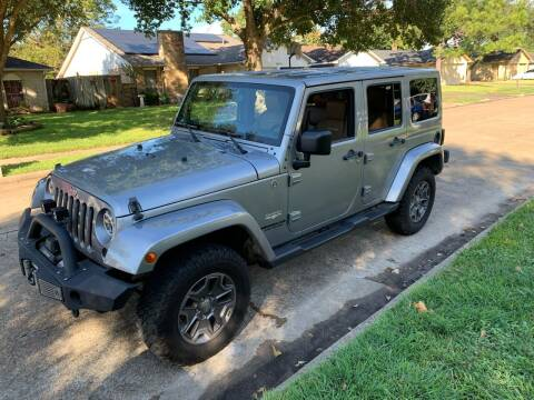 2015 Jeep Wrangler Unlimited for sale at Demetry Automotive in Houston TX