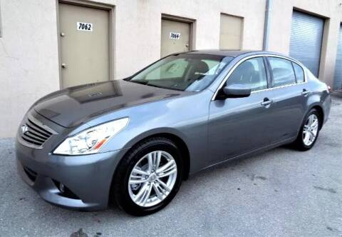 2011 Infiniti G25 Sedan for sale at Selective Motor Cars in Miami FL