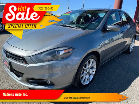 2013 Dodge Dart for sale at Nations Auto Inc. in Denver CO