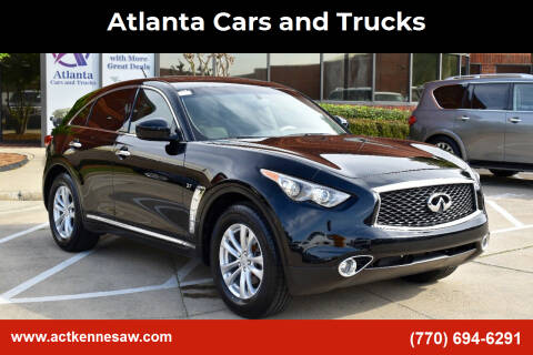 2017 Infiniti QX70 for sale at Atlanta Cars and Trucks in Kennesaw GA