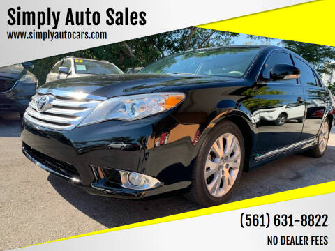 2011 Toyota Avalon for sale at Simply Auto Sales in Palm Beach Gardens FL