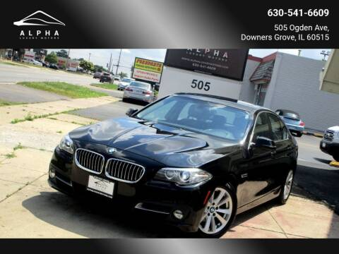 2015 BMW 5 Series for sale at Alpha Luxury Motors in Downers Grove IL