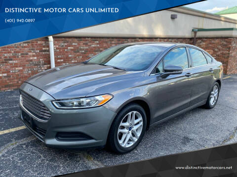 2013 Ford Fusion for sale at DISTINCTIVE MOTOR CARS UNLIMITED in Johnston RI