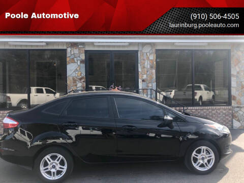 2017 Ford Fiesta for sale at Poole Automotive in Laurinburg NC