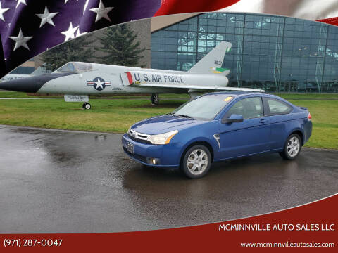 2008 Ford Focus for sale at McMinnville Auto Sales LLC in Mcminnville OR