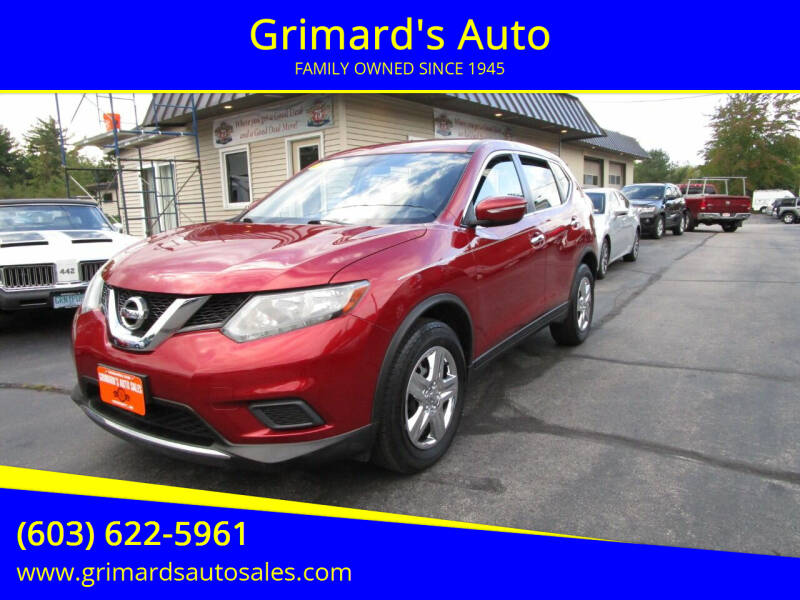 2015 Nissan Rogue for sale at Grimard's Auto in Hooksett NH