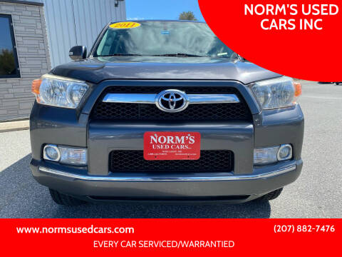 2011 Toyota 4Runner for sale at NORM'S USED CARS INC in Wiscasset ME