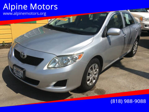 2009 Toyota Corolla for sale at Alpine Motors in Van Nuys CA