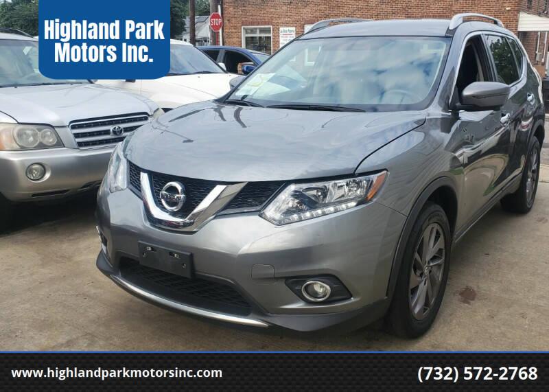 2016 Nissan Rogue for sale at Highland Park Motors Inc. in Highland Park NJ