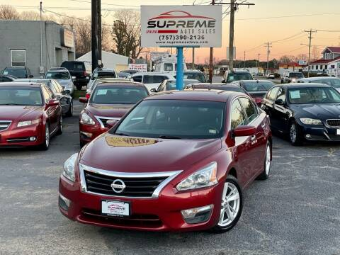2013 Nissan Altima for sale at Supreme Auto Sales in Chesapeake VA