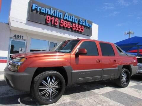 2003 Chevrolet Avalanche for sale at Franklin Auto Sales in El Paso TX