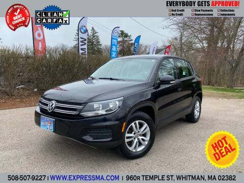2012 Volkswagen Tiguan for sale at Auto Sales Express in Whitman MA