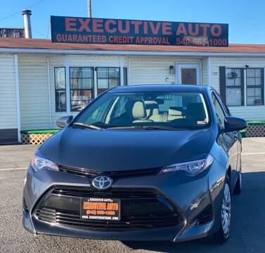 2018 Toyota Corolla for sale at Executive Auto in Winchester VA