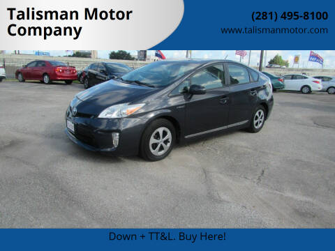 2012 Toyota Prius for sale at Talisman Motor Company in Houston TX