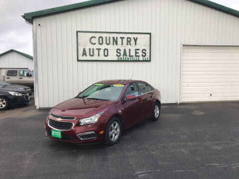 2015 Chevrolet Cruze for sale at COUNTRY AUTO SALES LLC in Greenville OH