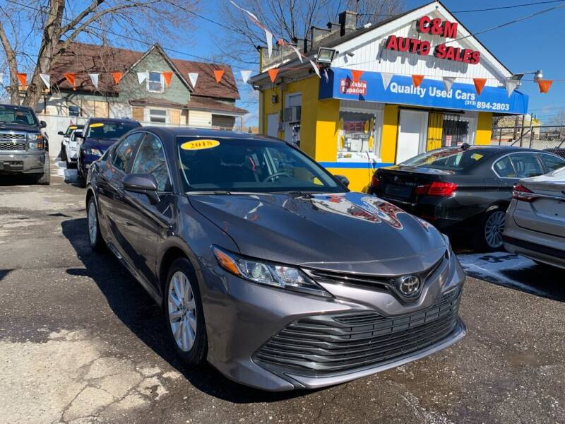 2018 Toyota Camry for sale at C & M Auto Sales in Detroit MI