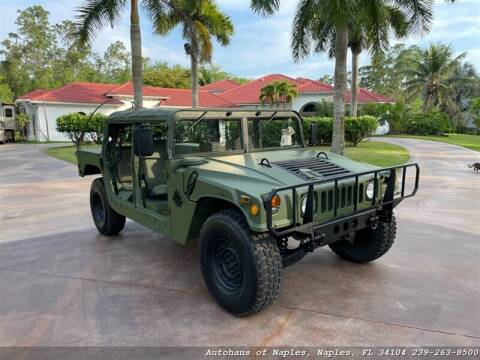 1995 AM Gerneral HUMMVEE for sale at Autohaus of Naples Inc. in Naples FL