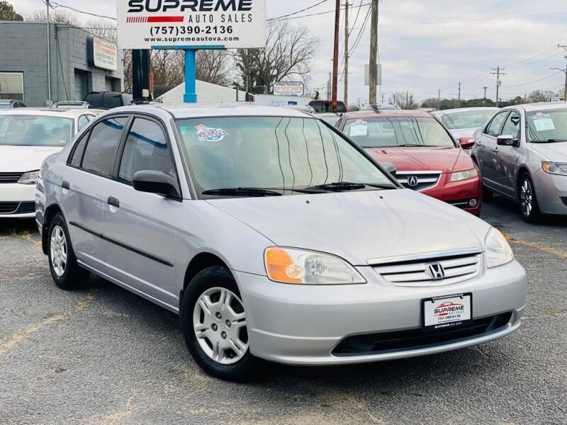 2001 Honda Civic for sale at Supreme Auto Sales in Chesapeake VA