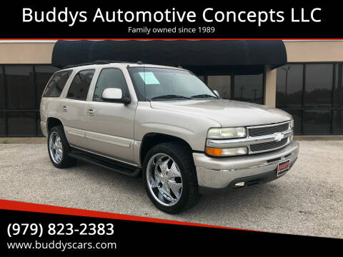 2004 Chevrolet Tahoe for sale at Buddys Automotive Concepts LLC in Bryan TX